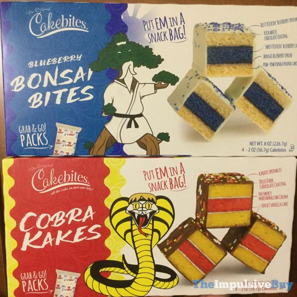 The Original Cakebites Blueberry Bonsai Bites and Cobra Kakes