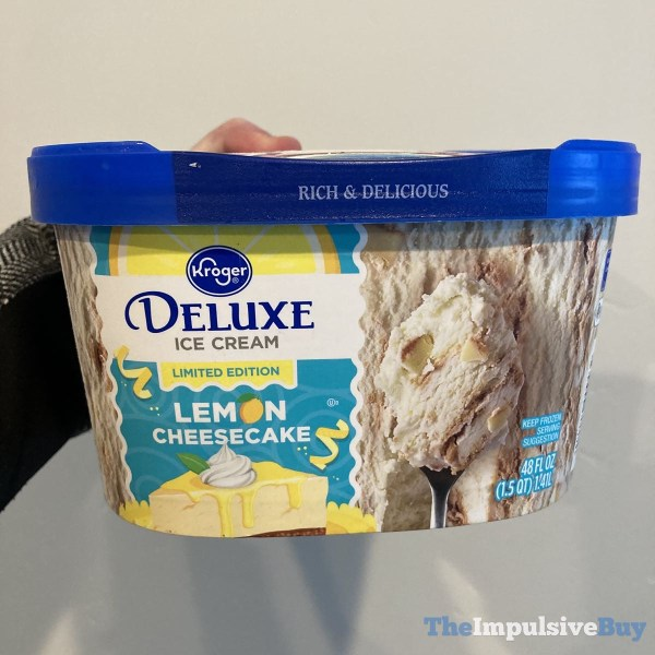 Kroger Limited Edition Lemon Cheesecake Deluxe Ice Cream