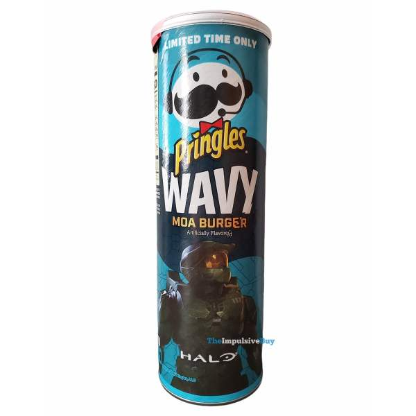 Pringles Wavy Halo Moa Burger Can