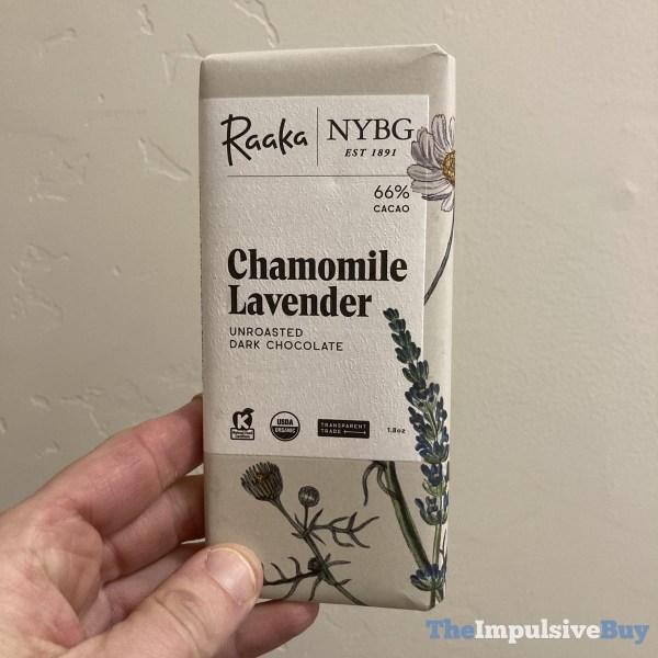 Raaka Chocolate Chamomile Lavender Unroasted Dark Chocolate