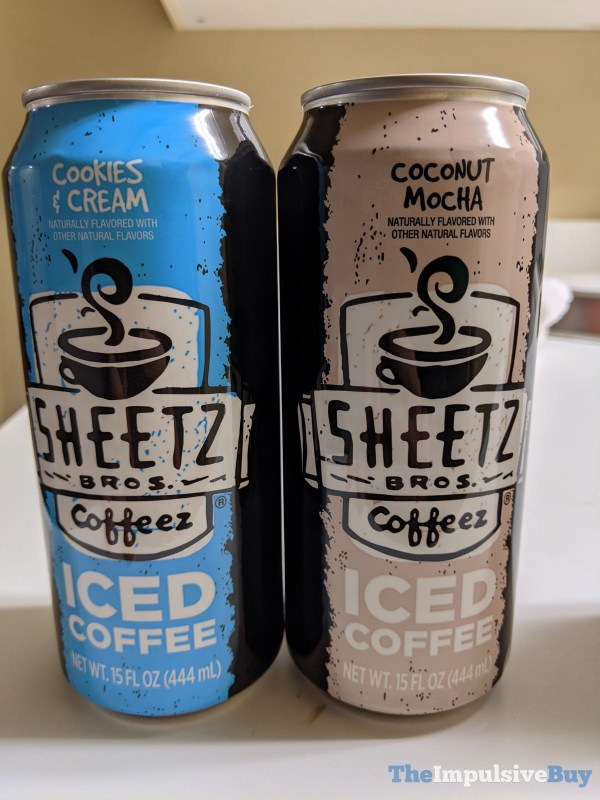 Sheetz Bros Coffeez Iced Coffee Cookies  Cream and Coconut Mocha