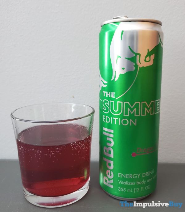Red Bull Summer Edition Dragon Fruit Energy Drink Glass Can