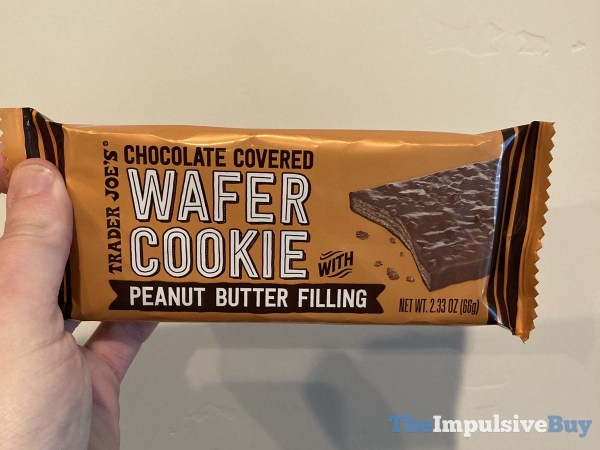Trader Joe s Chocolate Covered Wafer Cookie with Peanut Butter Filling