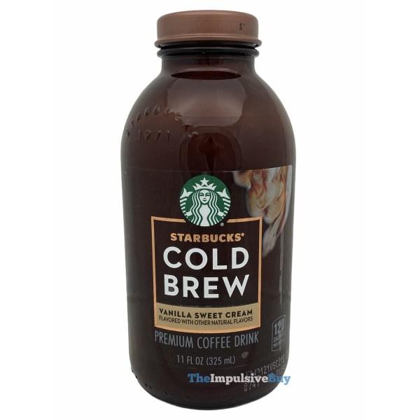 Starbucks Bottled Vanilla Sweet Cream Cold Brew Bottle