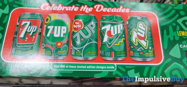 7Up Celebrate the Decades Limited Edition Can Designs