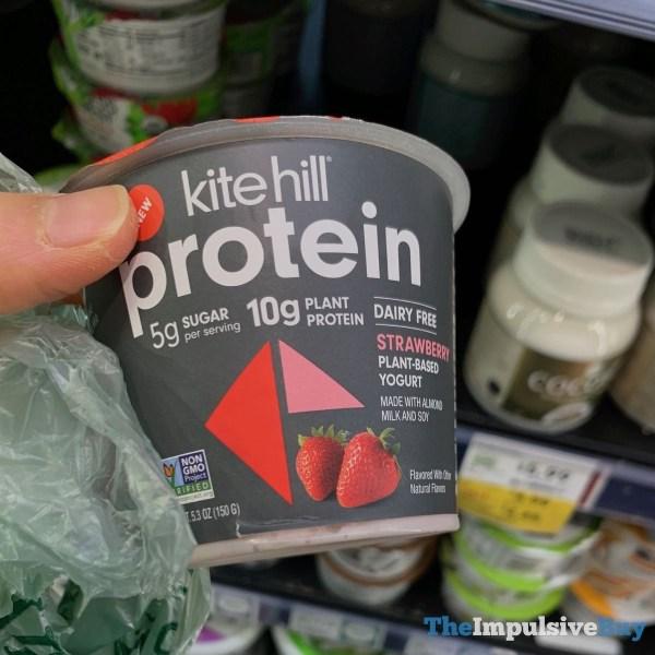 Kite Hill Protein Dairy Free Strawberry Plant Based Yogurt