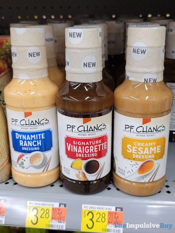 P F Chang s Dynamite Ranch Signature Vinaigrette and Creamy Sesame Dressing