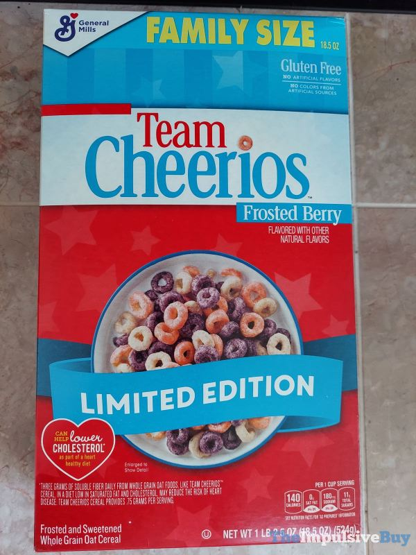 Limited Edition Team Cheerios Frosted Berry Cereal