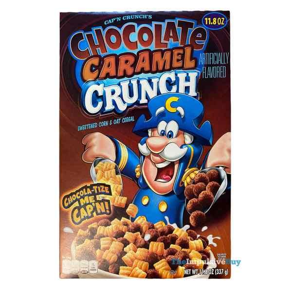 Cap n Crunch s Chocolate Caramel Crunch Cereal Box