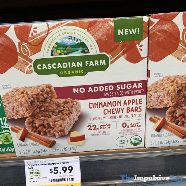 Cascadian Farm No Sugar Added Cinnamon Apple Chewy Bars