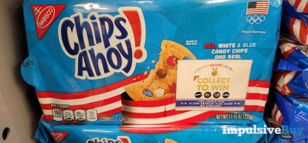 Chips Ahoy with Red White  Blue Candy Chips 2021 Design