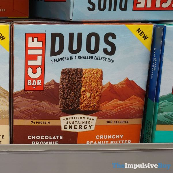 Clif Bar Duos Chocolate Brownie Crunchy Peanut Butter