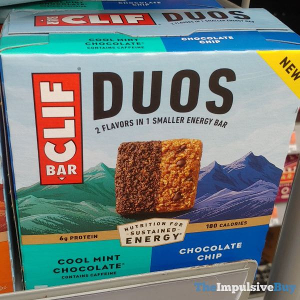 Clif Bar Duos Cool Mint Chocolate Chocolate Chip