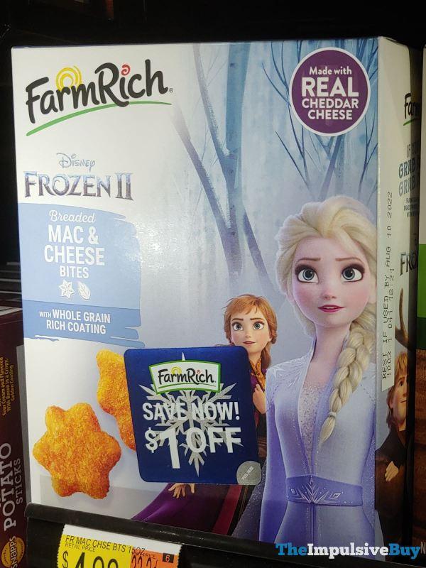 Farm Rich Disney Frozen II Breaded Mac  Cheese Bites