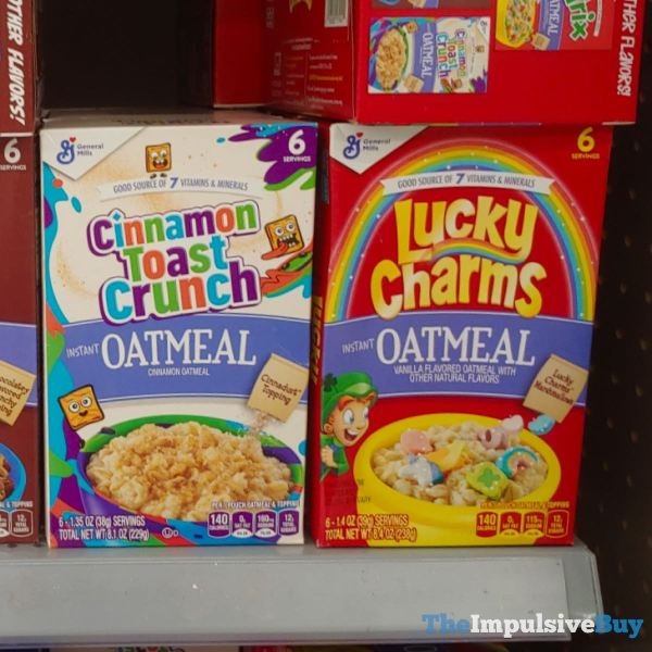 General Mills Cinnamon Toast Crunch and Lucky Charms Oatmeal