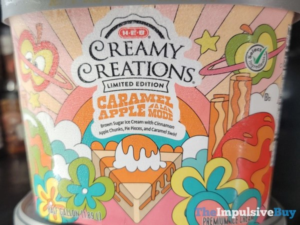 H E B Creamy Creations Limited Edition Caramel Apple a la Mode Ice Cream