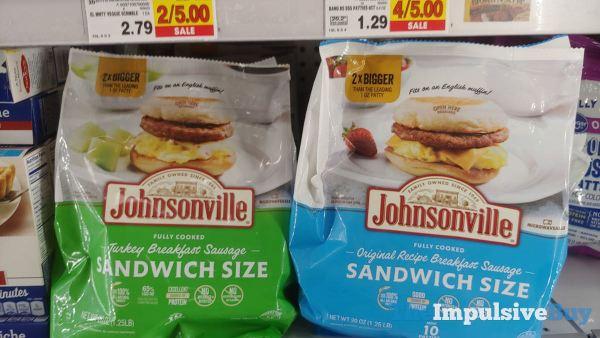 Johnsonville Sandwich Size Turkey and Original Recipe Breakfast Sausages