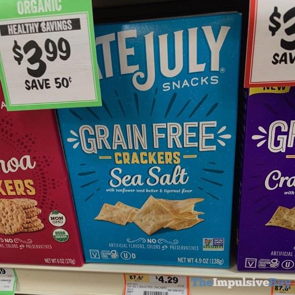 Late July Snacks Sea Salt Grain Free Crackers