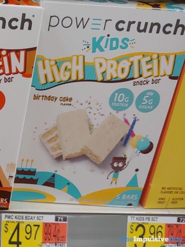 Power Crunch Kids High Protein Birthday Cake Bars