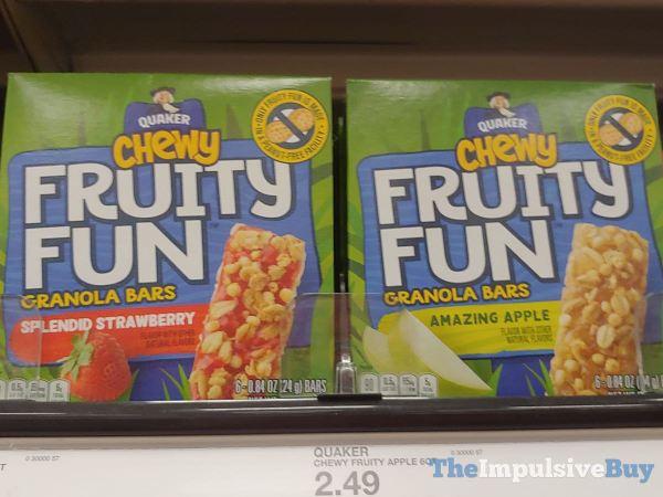 Quaker Chewy Fruity Fun Granola Bars  Splendid Strawberry and Amazing Apple