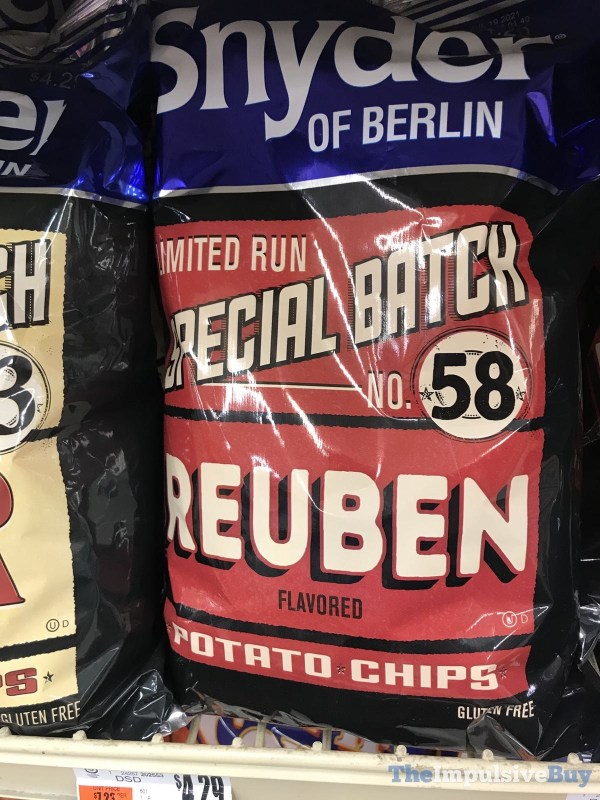 Snyder of Berlin Limited Run Special Batch No 58 Reuben Potato Chips