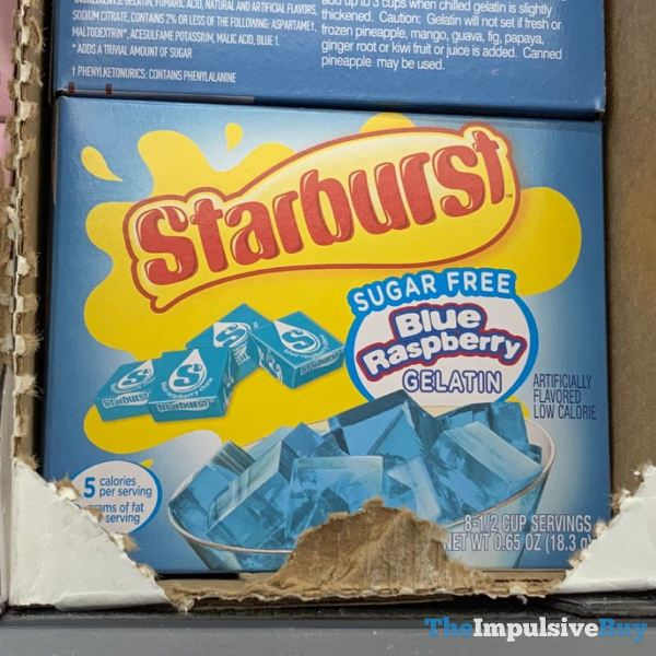 Starburst Sugar Free Blue Raspberry Gelatin