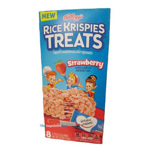 Kellogg s Strawberry Rice Krispies Treats Box