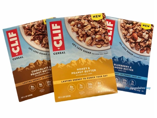Clif Cereal Boxes