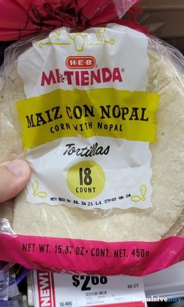 H E B Mi Tienda Maiz Con Nopal Tortillas