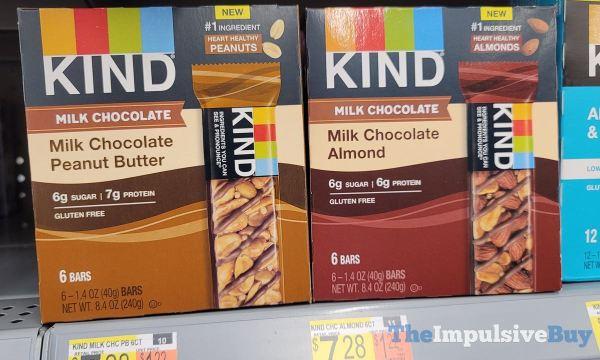 KIND Milk Chocolate Bars  Milk Chocolate Peanut Butter and Milk Chocolate Almond