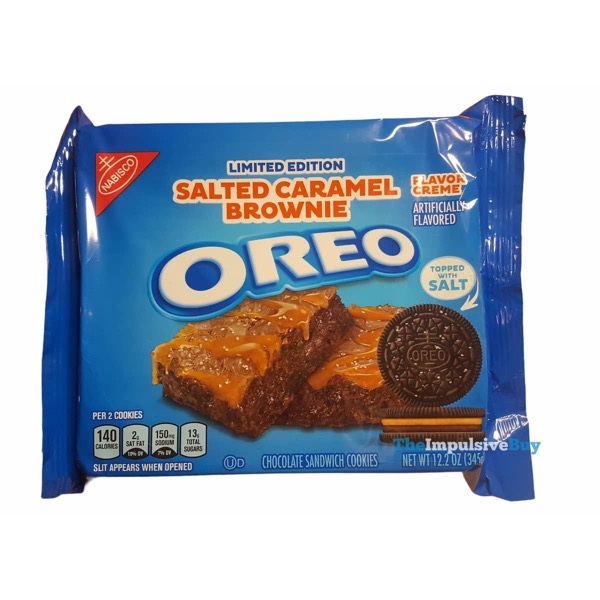 Limited Edition Salted Caramel Brownie Oreo Cookies Packaging