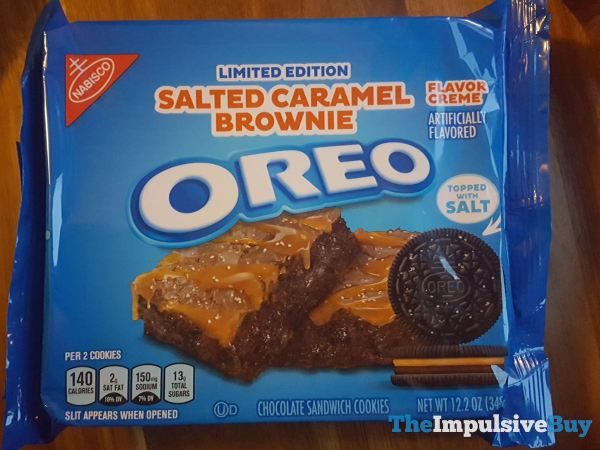 Limited Edition Salted Caramel Brownie Oreo
