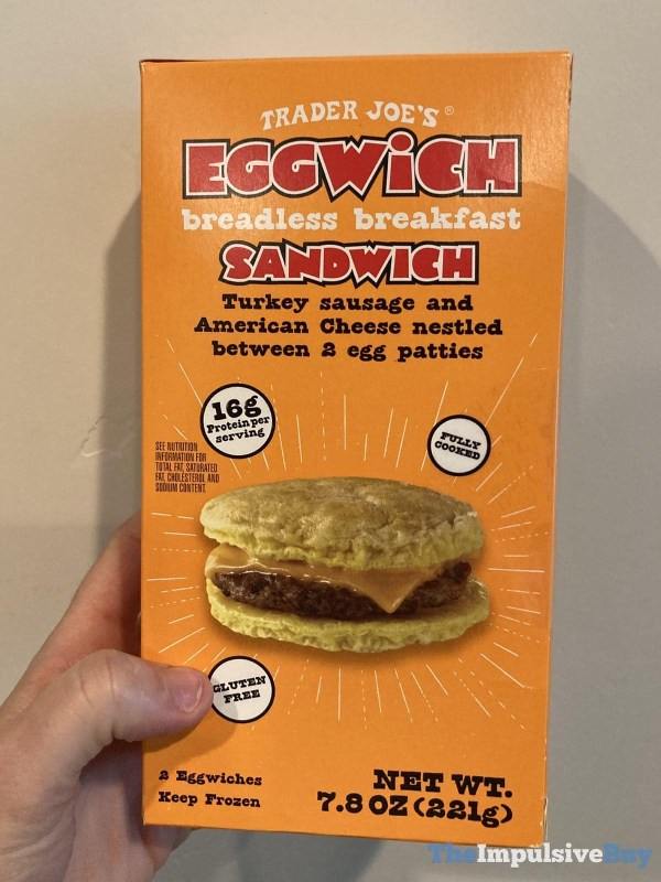 Trader Joe s Eggwich Breadless Breakfast Sandwich