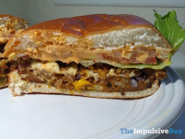 Wendy s Spicy Black Bean Burger Split