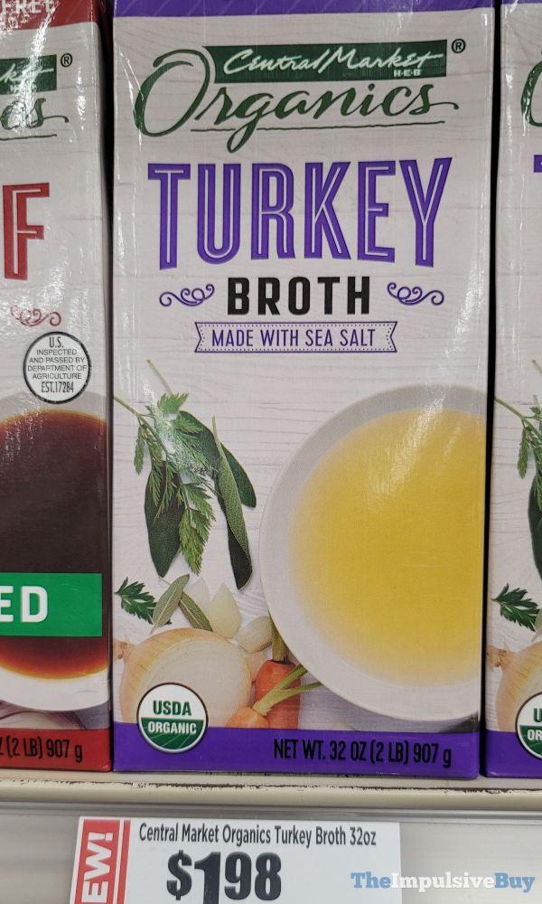 Central Market H E B Organics Turkey Broth made with Sea Salt