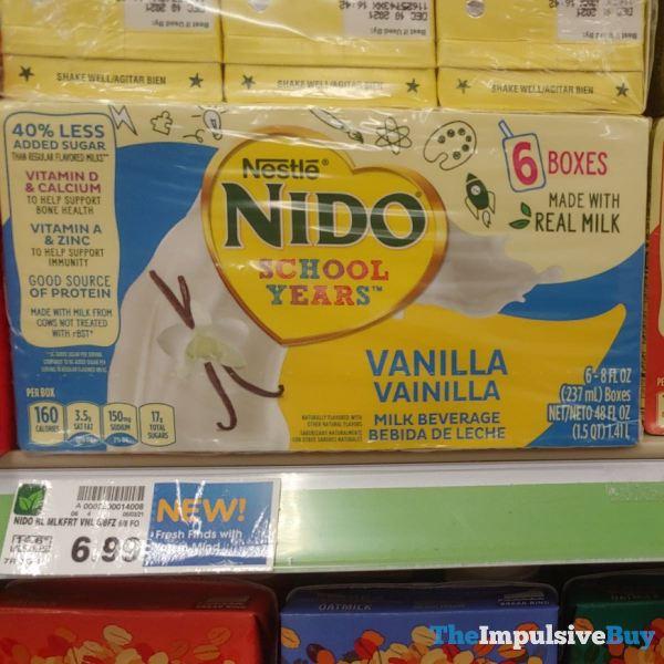 Nestle Nido Vanilla Milk Beverage Boxes