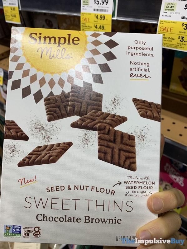 Simple Mills Seed  Nut flour Sweet Thins Chocolate Brownie