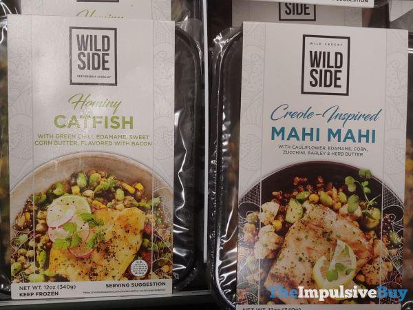 Wild Side Hominy Catfish and Creole Inspired Mahi Mahi