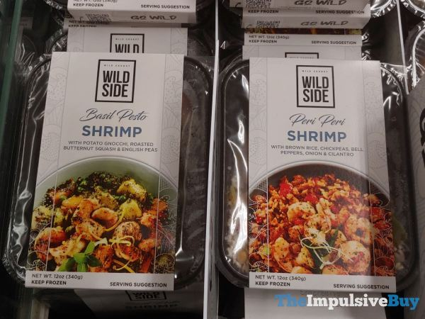 Wild Side Basil Pesto Shrimp and Peri Peri Shrimp