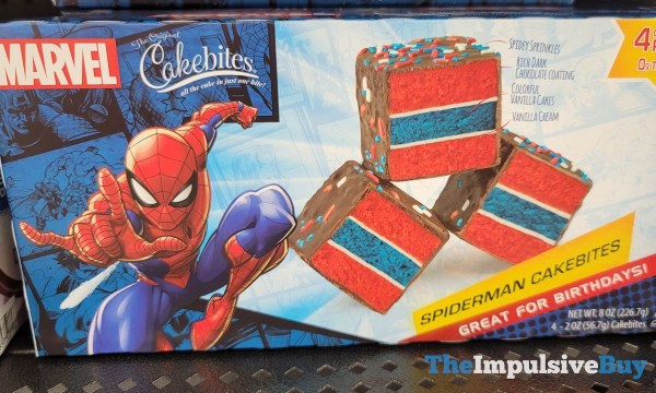 The Original Cakebites Spiderman Cakebites