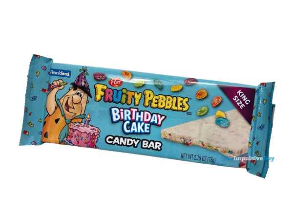 Frankford Fruity Pebbles Birthday Cake Candy Bar Wrapper