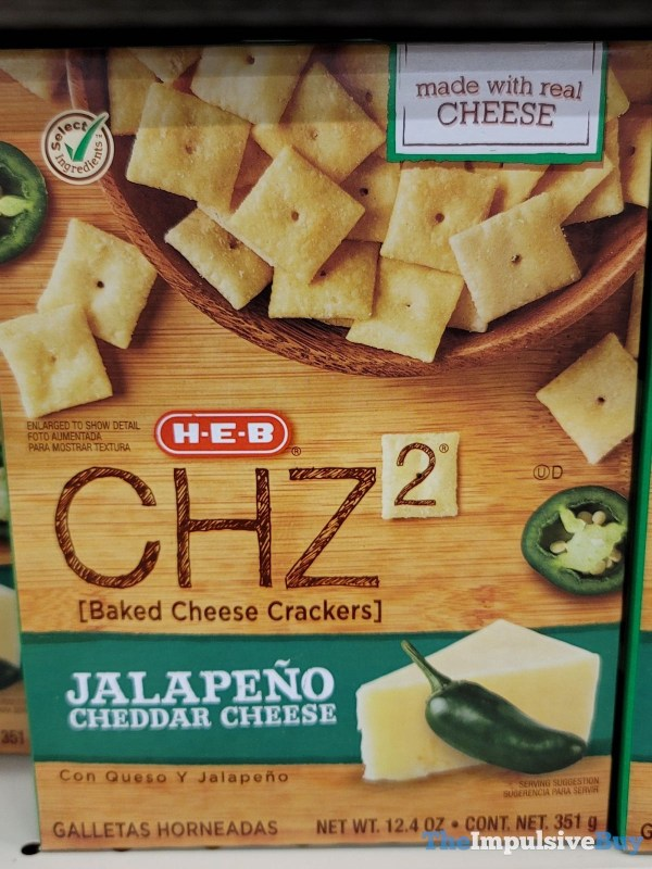 H E B CHZ2 Jalapeno Cheddar Cheese Crackers