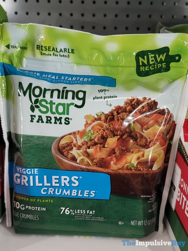 Morningstar Farms New Recipe Veggie Grillers Crumbles