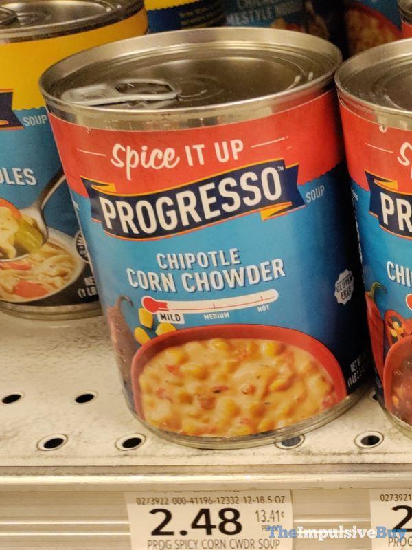Progresso Chipotle Corn Chowder and Spicy Chicken Tortilla