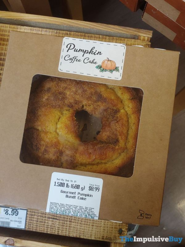 Sprouts Pumpkin Coffee Cake