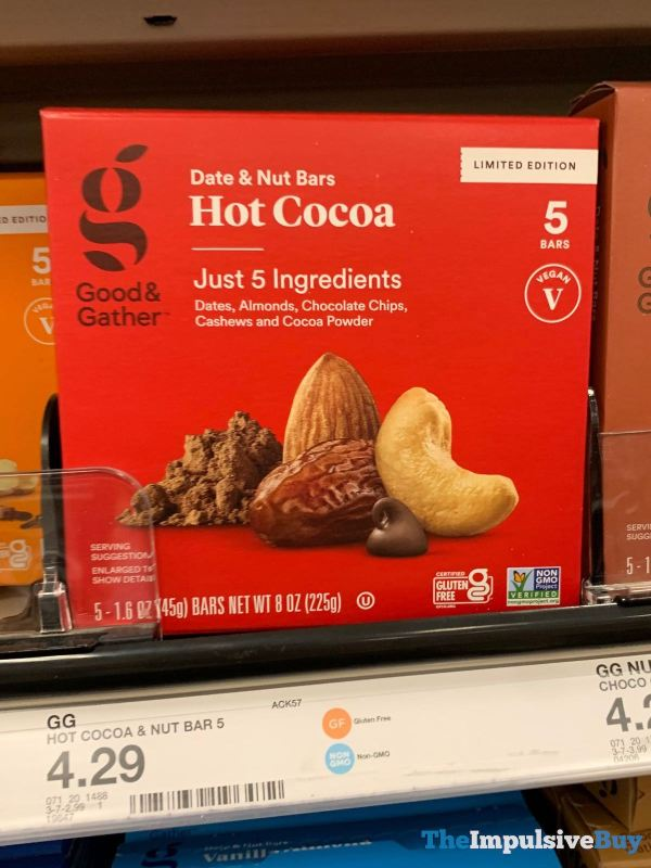 Good  Gather Hot Cocoa Date  Nut Bars