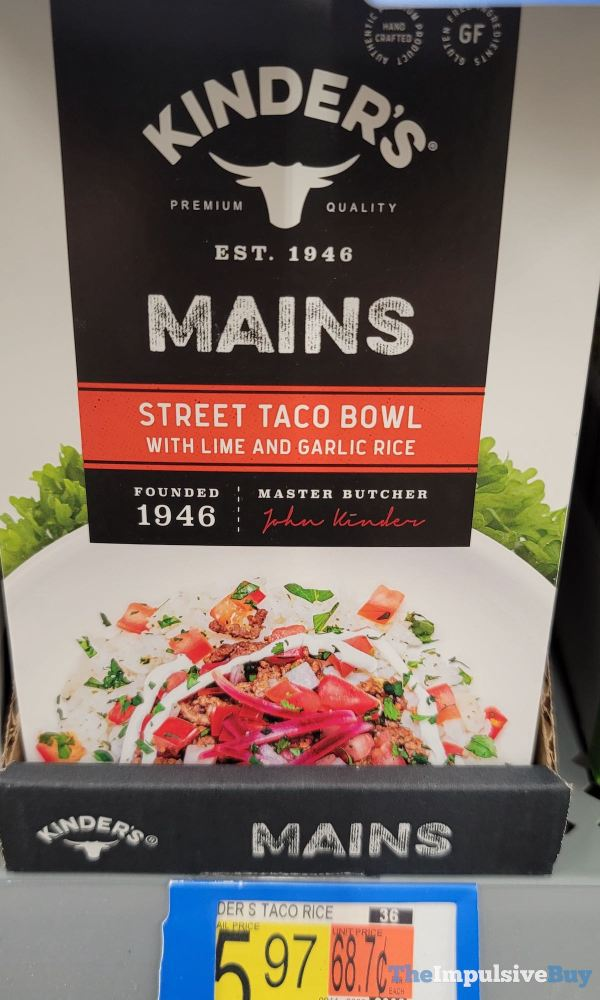Kinder s Mains Street Taco Bowl with Lime and Garlic Rice