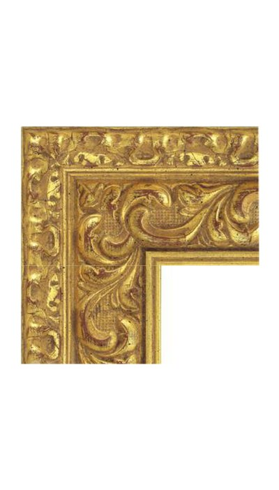 Antique Mirror Booth Frame Gold