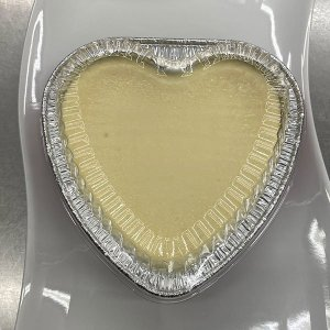 Heart Shape Plain Cheesecake