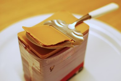 Brunost, or brown cheese.